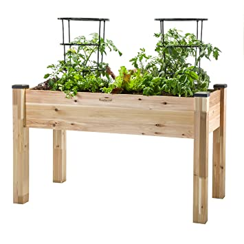 CedarCraft Elevated Garden Planter (23u0026quot; X 49u0026quot; ...