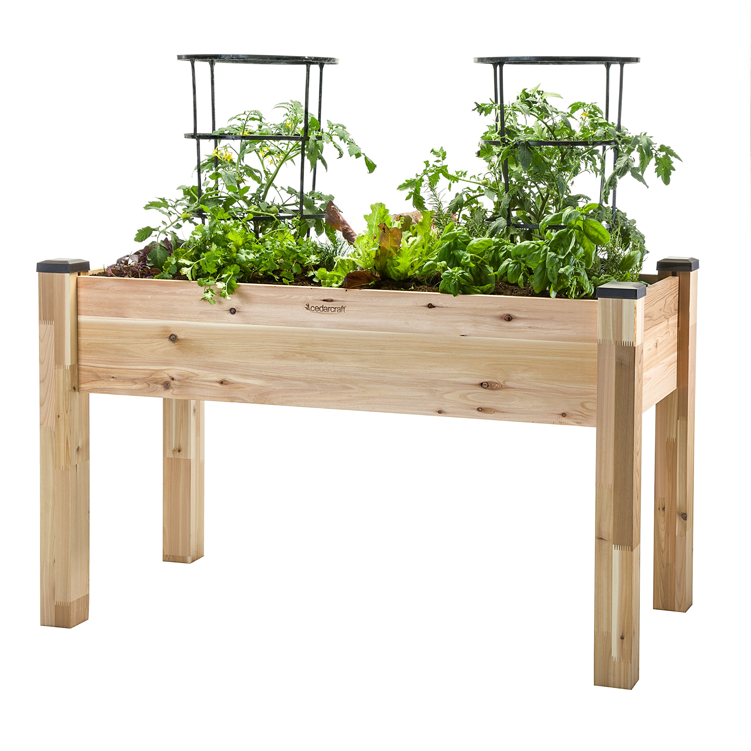 CedarCraft Elevated Garden Planter (23'' X 49'' X 30'')