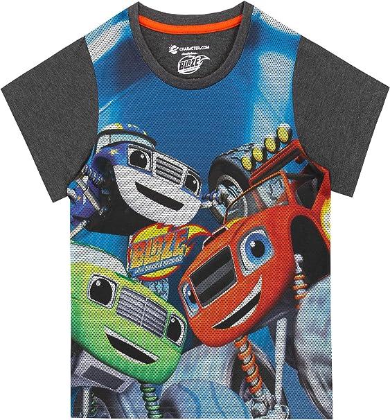 Blaze y los Monster Machines Camiseta de Manga Corta para niños Blaze and The Monster Machines Multicolor 2-3 Años: Amazon.es: Ropa y accesorios