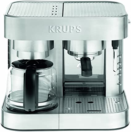 Amazon KRUPS XP6040 Die Cast Pump Espresso Machine and Coffee