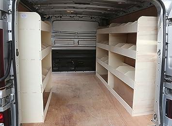 Vauxhall Vivaro SWB Plywood Van Racking Storage Utility Rack Unit Equipment Ply Shelving Tools 12 x FREE L-Shaped Brackets