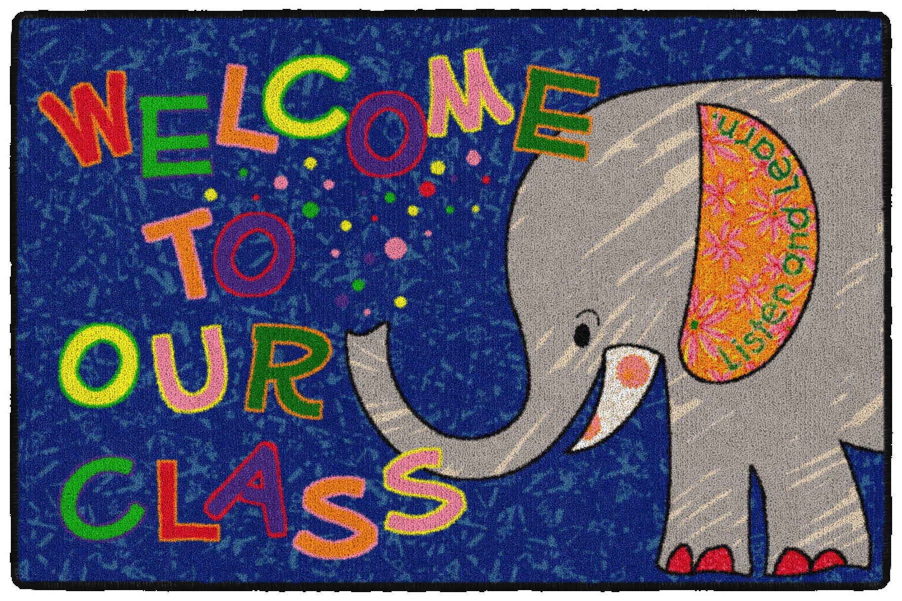 Flagship Carpets CE146-14W Welcome Mat - Class Elephant, Multi