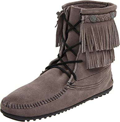 Minnetonka Doublefringetramperboot, Mocasines para Mujer, Gris (Grau (Grey)), 40: Amazon.es: Zapatos y complementos
