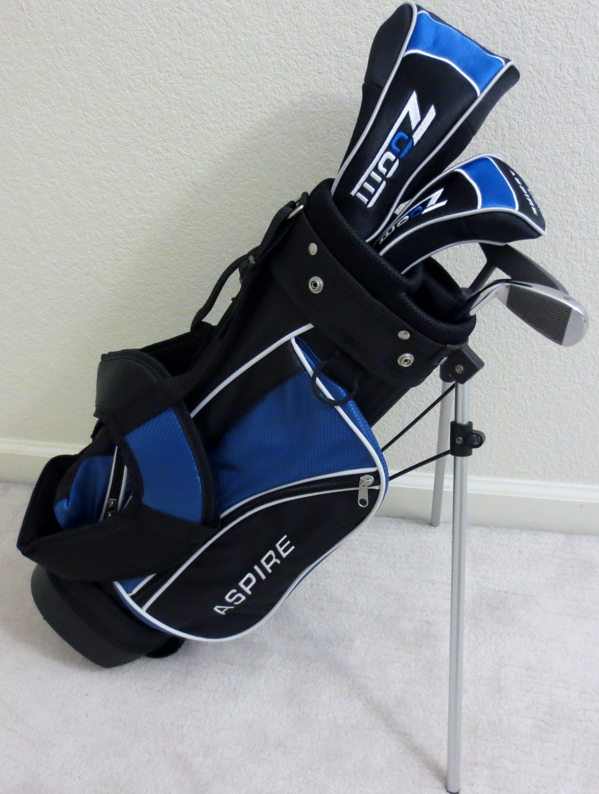 Boys Right Handed Junior Golf Club Set with Stand Bag for Kids Ages 3-6 Jr. Professional Quality