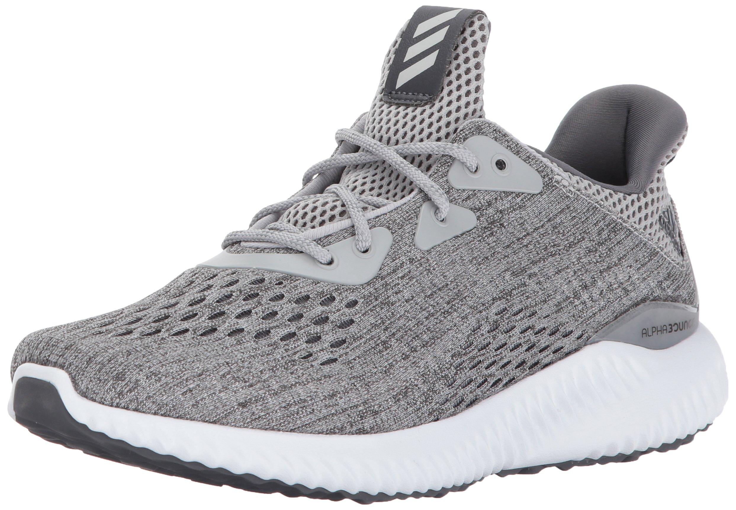 adidas Performance Women's Alphabounce Em w Running Shoe, Grey Five/Grey Two/White, 6.5 Medium US