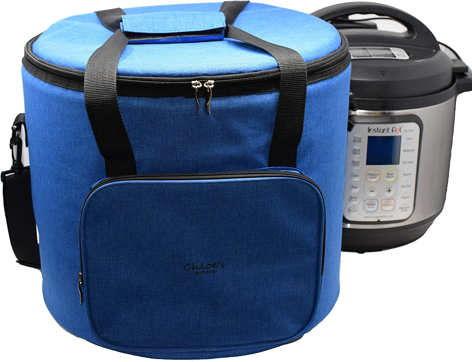 Chloe's Home Travel Bag for Instant Pot (6QT Royal Blue) – Versatile Tote Bag For Small Appliances & More With Carrying Strap, Handles & External Zip Pocket- Instant Pot Accessories For Traveling
