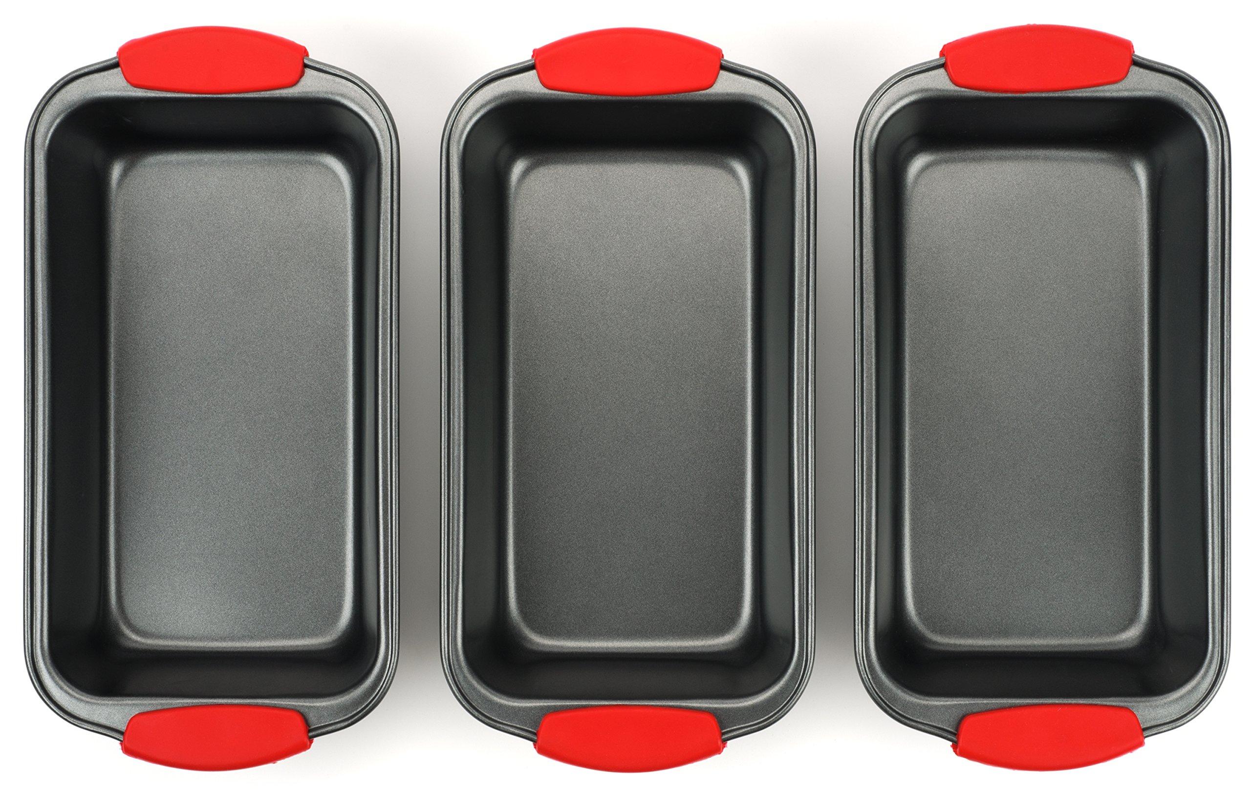 Elite Bakeware 3 Piece NonStick Bread Pan Set - Loaf Pans For Bread - Baking Pans - Bakeware Set by Elite Bakeware (Image #5)