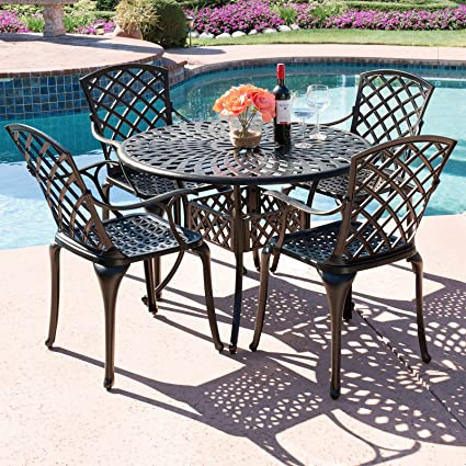 Amazon Com Best Choice Products 5 Piece Cast Aluminum Patio Dining