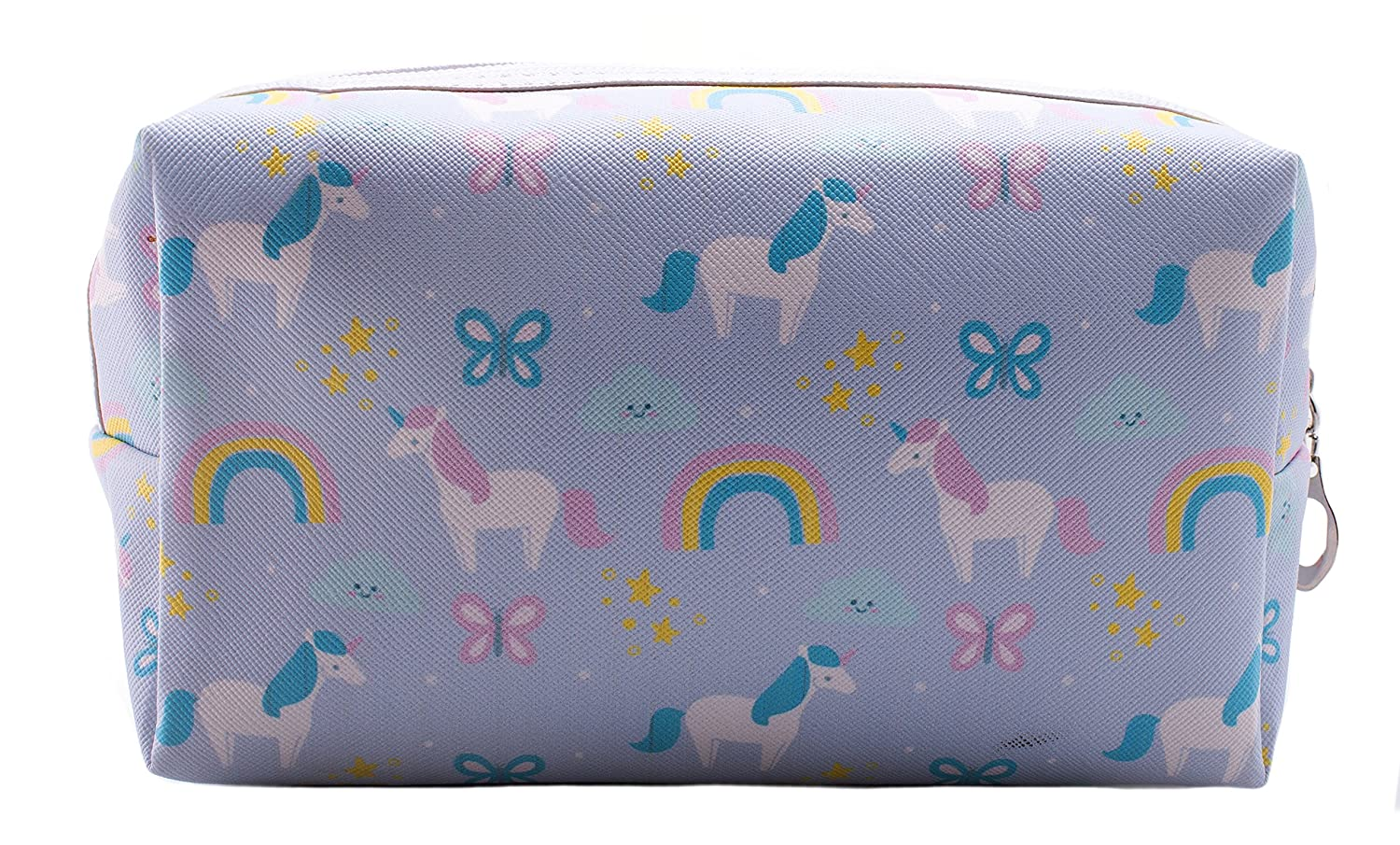 Amazon.com: Cosmetic Bag - Unicorn with Rainbows & Butterflies - Blue: Beauty