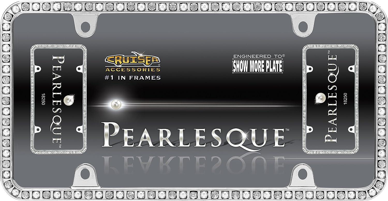 Cruiser Accessories 18250 Pearlesque License Plate Frame Chrome//Clear