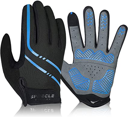 1 Pair Bike Gloves Full Finger Touchscreen Cycling Bicycle Breathable non-slip