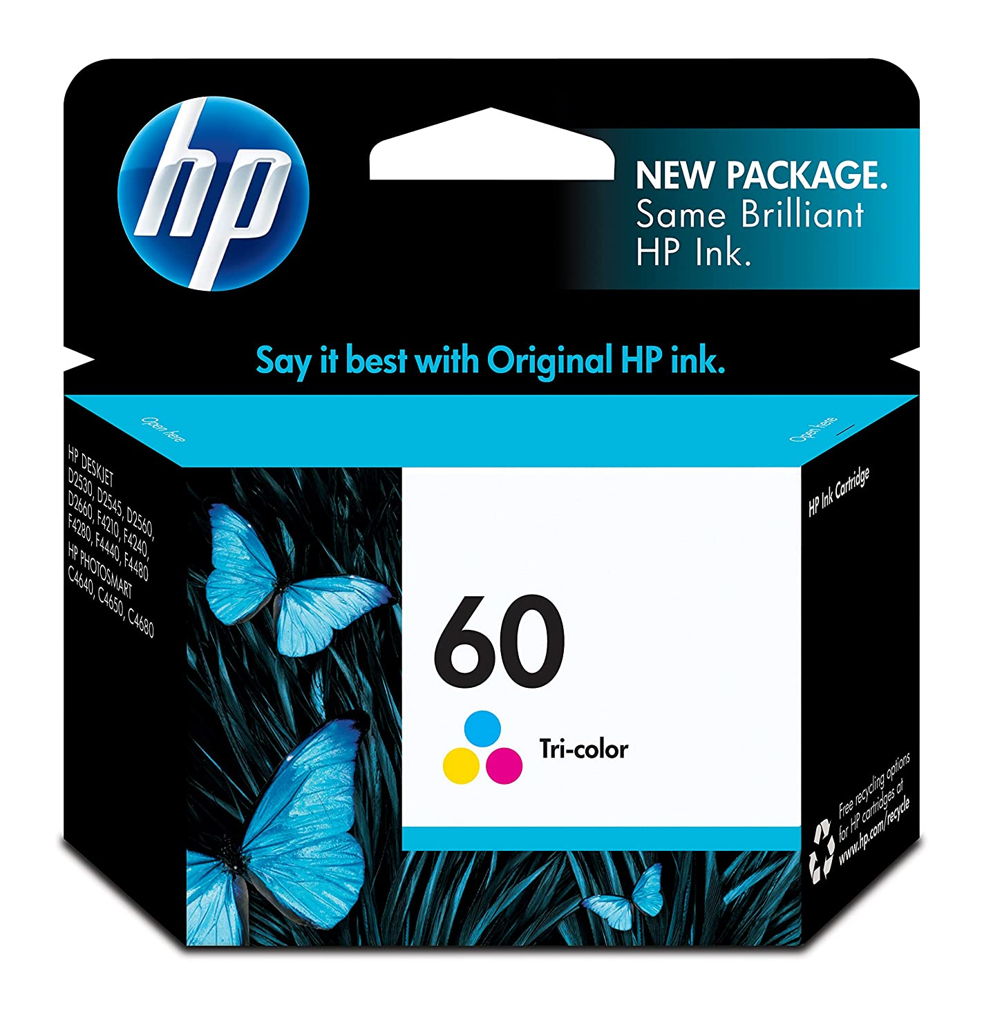 HP 60 Black Original Ink Cartridge (CC640WN) Ingram Micro Canada CC640WN#140