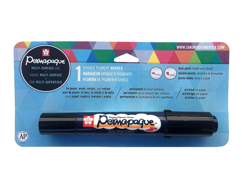 Permapaque Paint Marker doppio punto cardato-bianco: Amazon ...