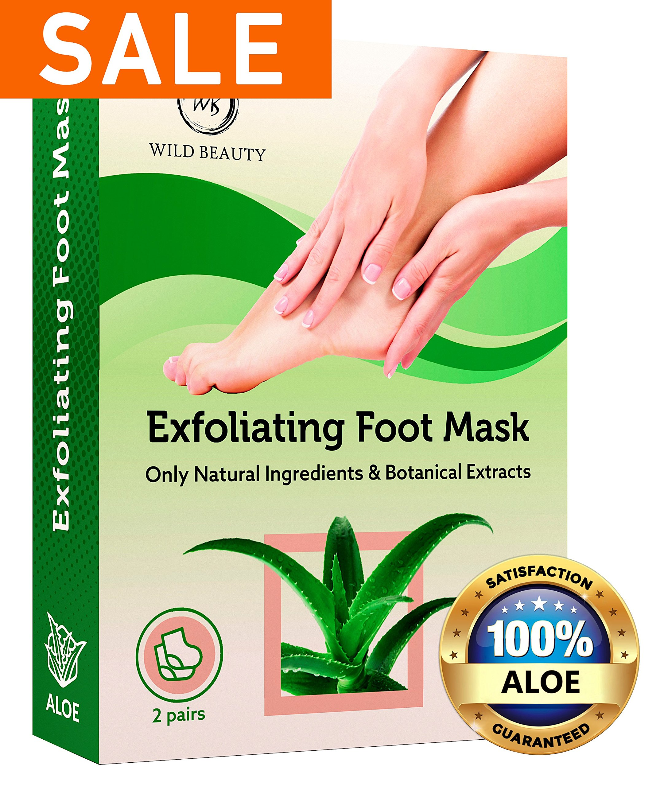 NEW 2018 Exfoliating Foot Peel Mask For Soft Smooth Touch Baby Feet - 2 Pairs Peeling Away Calluses Dead Skin Remover for Feet - Repair Rough Heels - Aloe Baby Foot Peel