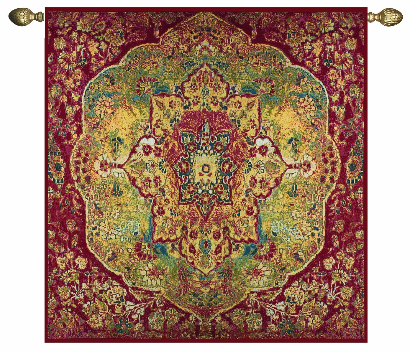 Manual Grand Bazaar Grande Cotton Tapestry Wall Hanging, 70 X 70-Inch
