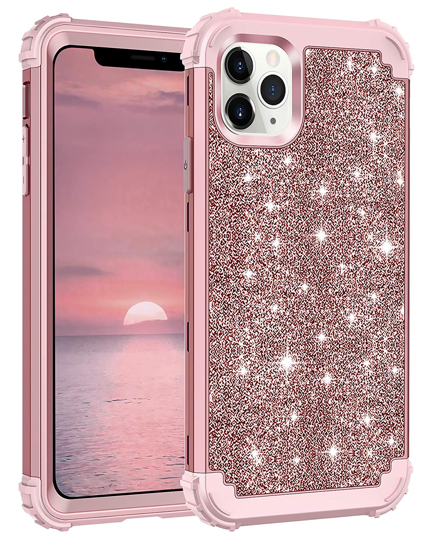 Funda Protectora Para iPhone 11 Pro - Glitter Rosa (xsr)