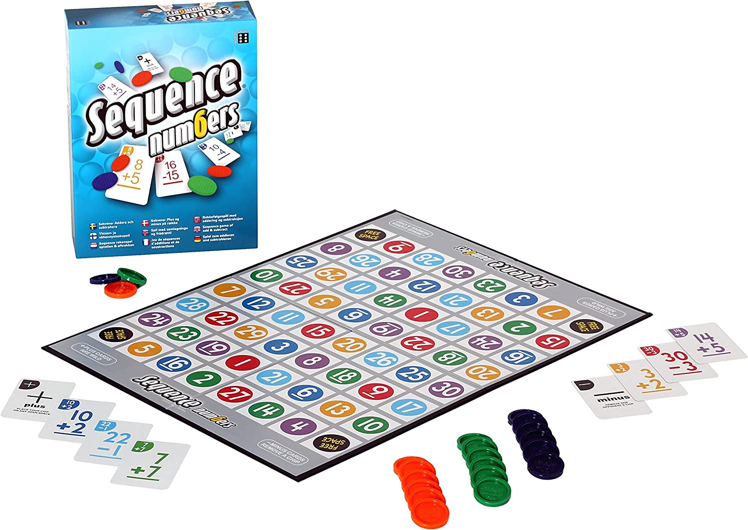 Juego de Mesa con números de Secuencia Winning Moves: Amazon.es ...
