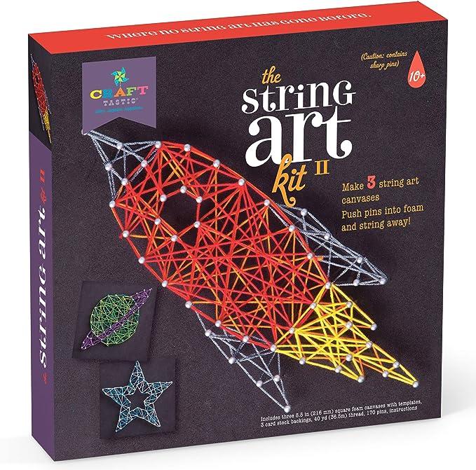 Pre-Hammered Simple String Art Signs Christmas Starfish DIY KIT- String Art Kit 7\u201d by 7\u201d Kids Craft Gift Zoom Call String Art Beginner