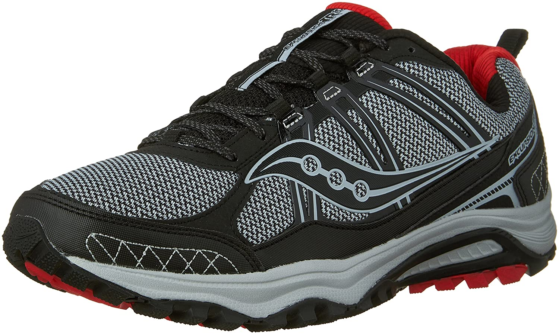 Saucony Men's Grid Excursion tr10 Running Shoe B074FKSTTF 8.5 D(M) US Grey/Black/Red
