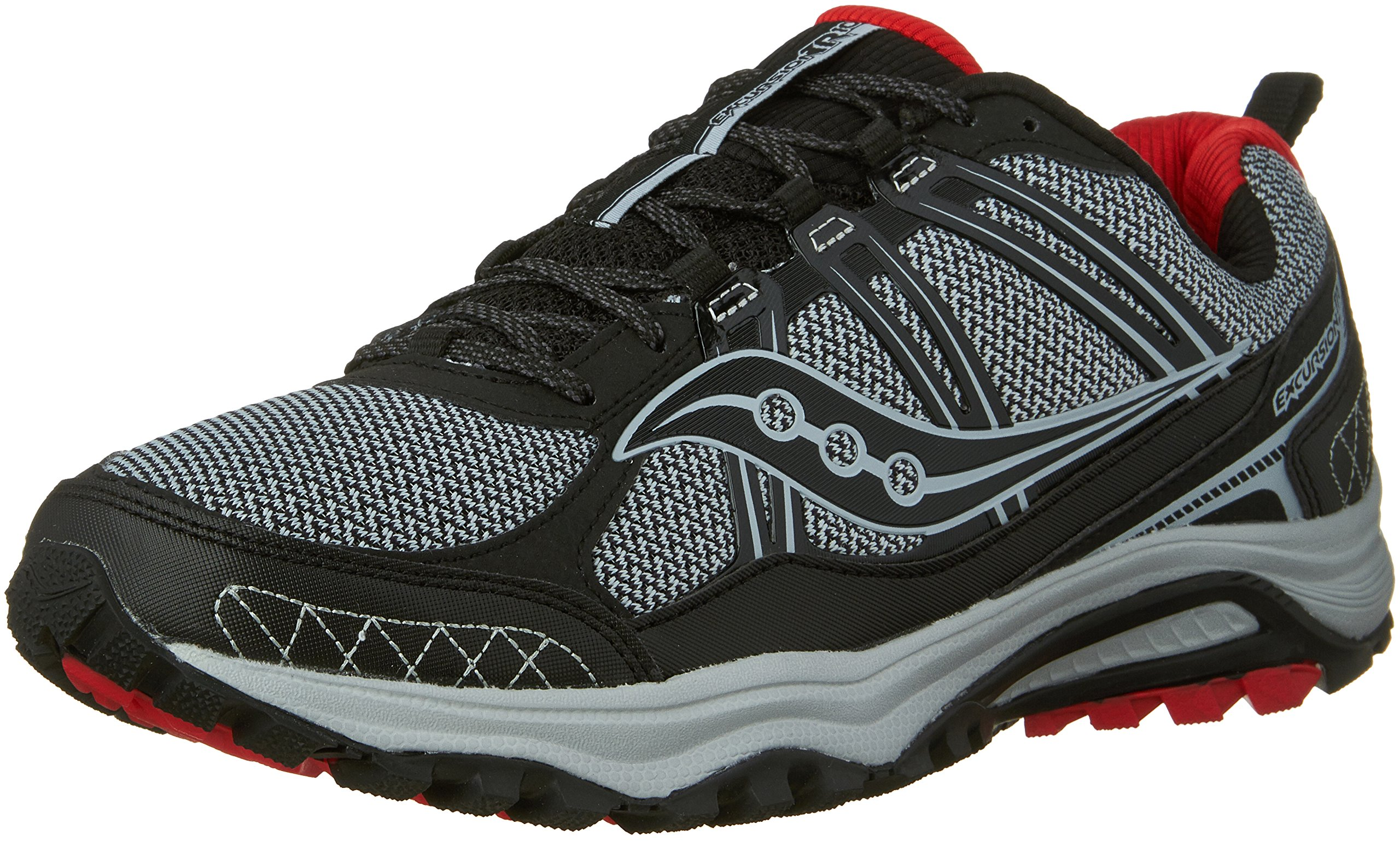 Saucony Excursion TR10 Wide Men 9 Grey | Black | Red by Saucony (Image #1)