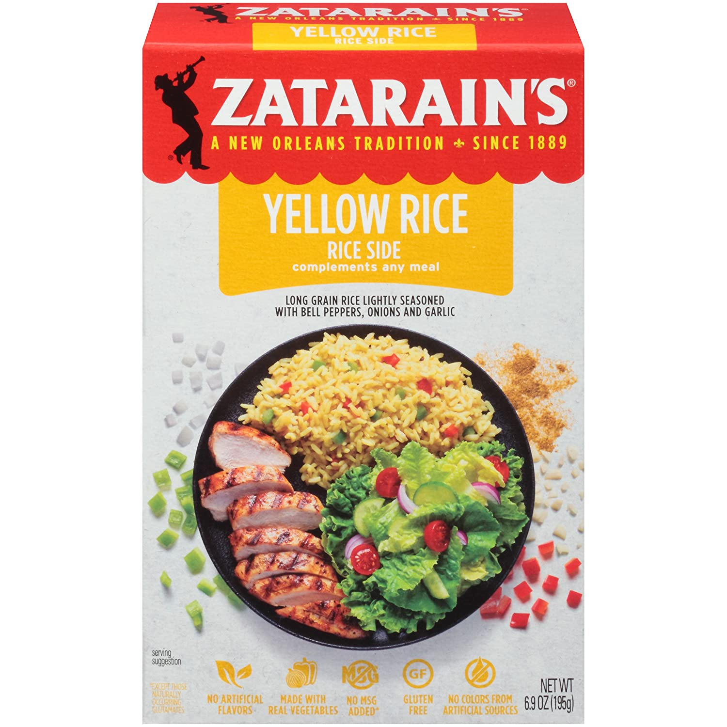 Zatarain's Yellow Rice Mix, 6.9 oz