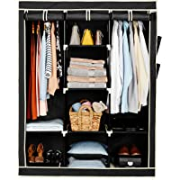 Amazon Brand - Solimo 3-Door Foldable Wardrobe