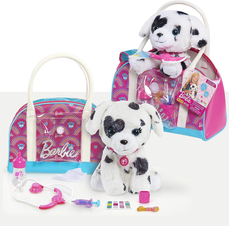 Barbie Hug & Kiss Pet 9-Piece Doctor Set with Dalmatian Puppy, Pink