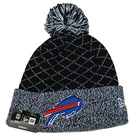 b4fcfa4007c Image Unavailable. Image not available for. Color  Buffalo Bills New Era  Women s Cuff Knit Beanie w Pom One Size ...