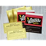 Wonka Bar Candy Wrapper and Golden Tickets (candy not included)