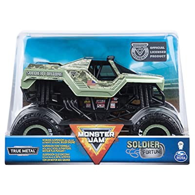 Monster Jam, Official Soldier Fortune Monster Truck, Die-Cast Vehicle, 1:24 Scale: Toys & Games