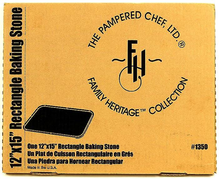 """Pampered Chef Rectangular Stone 12"""" x 15"""""""