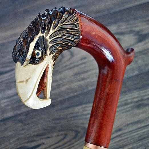 35 inch SNAKE Canes Walking Sticks Wood Wooden Handmade Sale