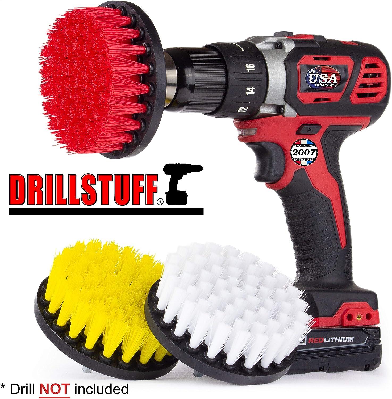 Drillstuff 4Dans 3 Piece doux Salle de bain Les pneus et les bateaux 5 x 5 x 3 pouces rouge blanc