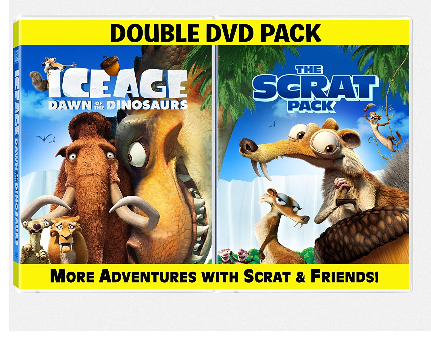 Amazon Com Ice Age Dawn Of The Dinosaurs The Scrat Pack Ice Age 3 Dawn Of The Dinosaurs Scrat Pack Movies Tv
