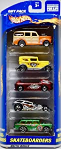 Hot Wheels 2000 - Mattel Inc Skateboarders Gift Pack - 5 Die Cast Metal Vehicles - 1:64 Scale - OOP - New - Rare - Collectible