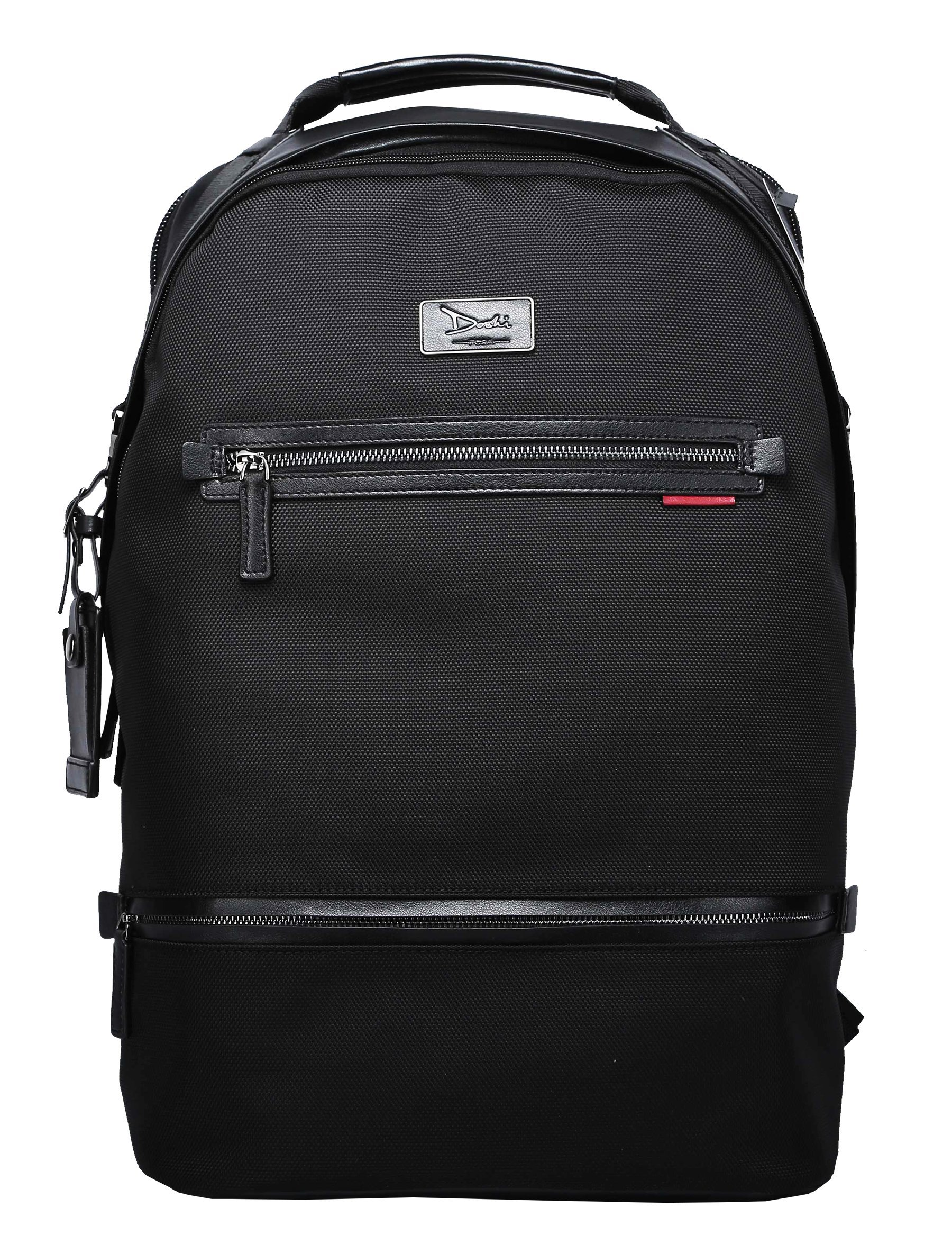 Microfiber Vegan Leather Doshi Barrel Backpack