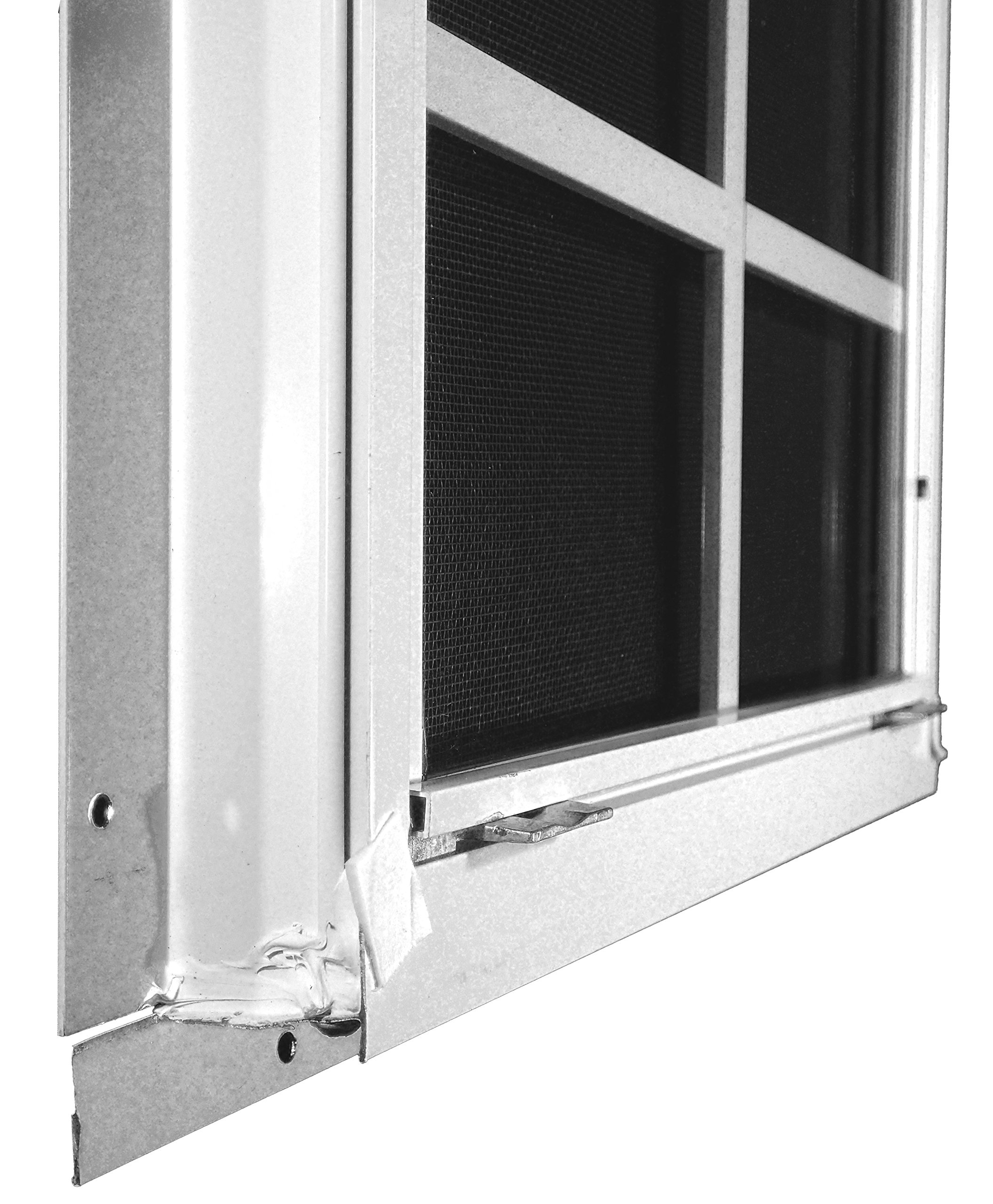 Shed Windows 14'' W x 21'' H - Flush Mount w/ Safety Glass - Playhouse Windows (White) by Outdoor Play and Storage (Image #4)