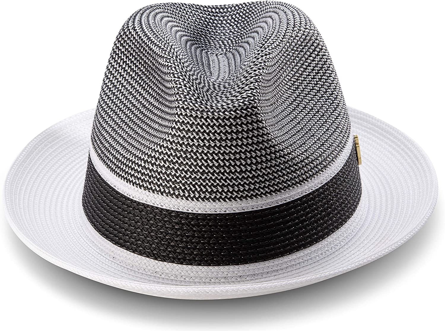 MONTIQUE Mens Braided Pinch Fedora Hat Fashion Fedoras for Men
