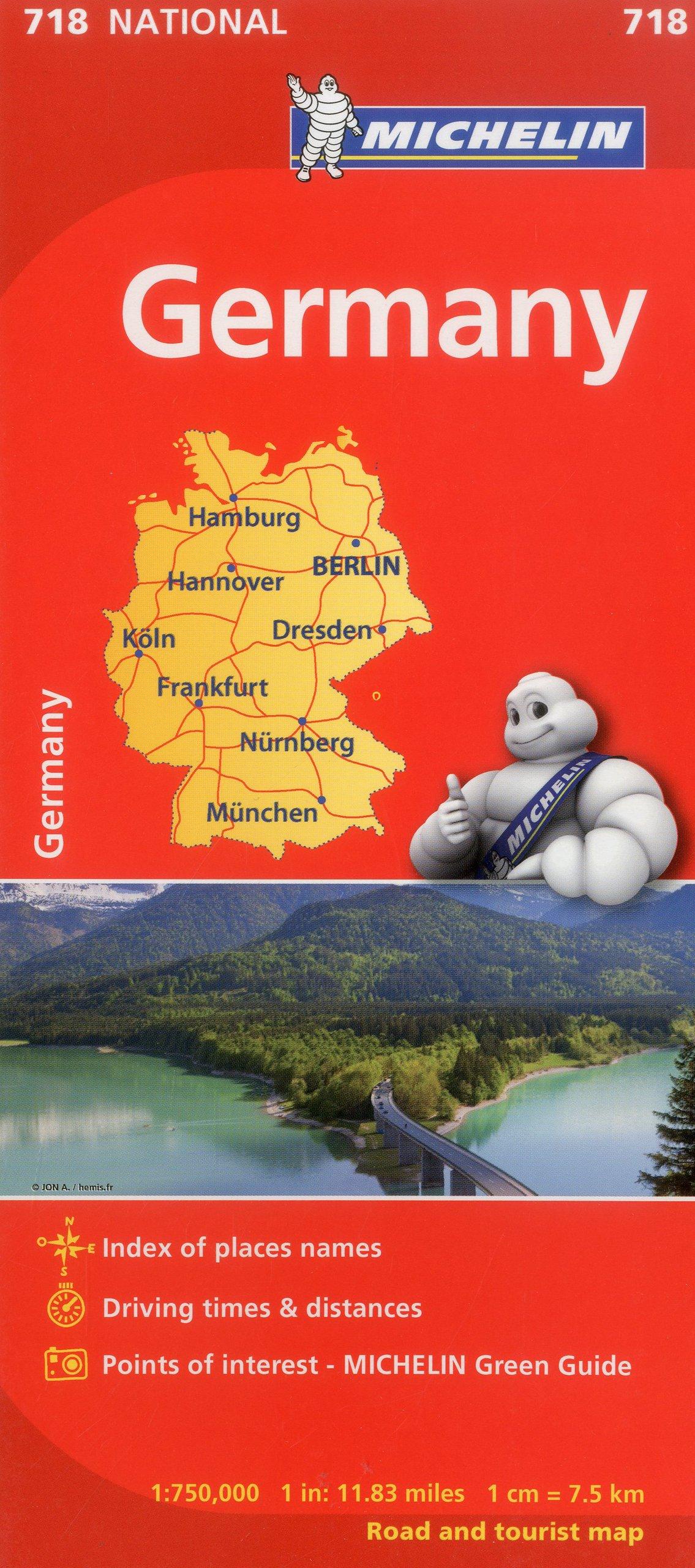 michelin germany map 718 mapscountry michelin michelin 9782067170834 amazoncom books