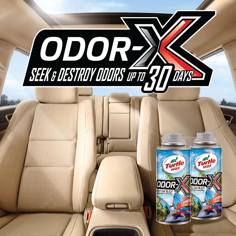 Turtle Wax 50831 Power Out Odor-X Caribbean Crush Whole Car Blast, 2-Pack,  4  Fluid_Ounces