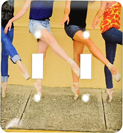 3drose Llc Lsp 9990 2 Photo Professional Ballerinas Dressed Up With Street Clothing But Wearing Ballet Shoes Double Toggle Switch Switch Plates Amazon Com