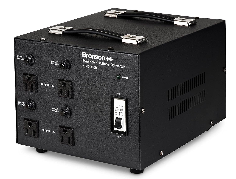Bronson++ HE-D 800-110 Volt Spannungswandler/Transformator - 800 Watt - in: Euro 220-240 Volt/Out: USA 110 Volt - Ringkerntransformator 800W - Bronson HE-D-800-EU