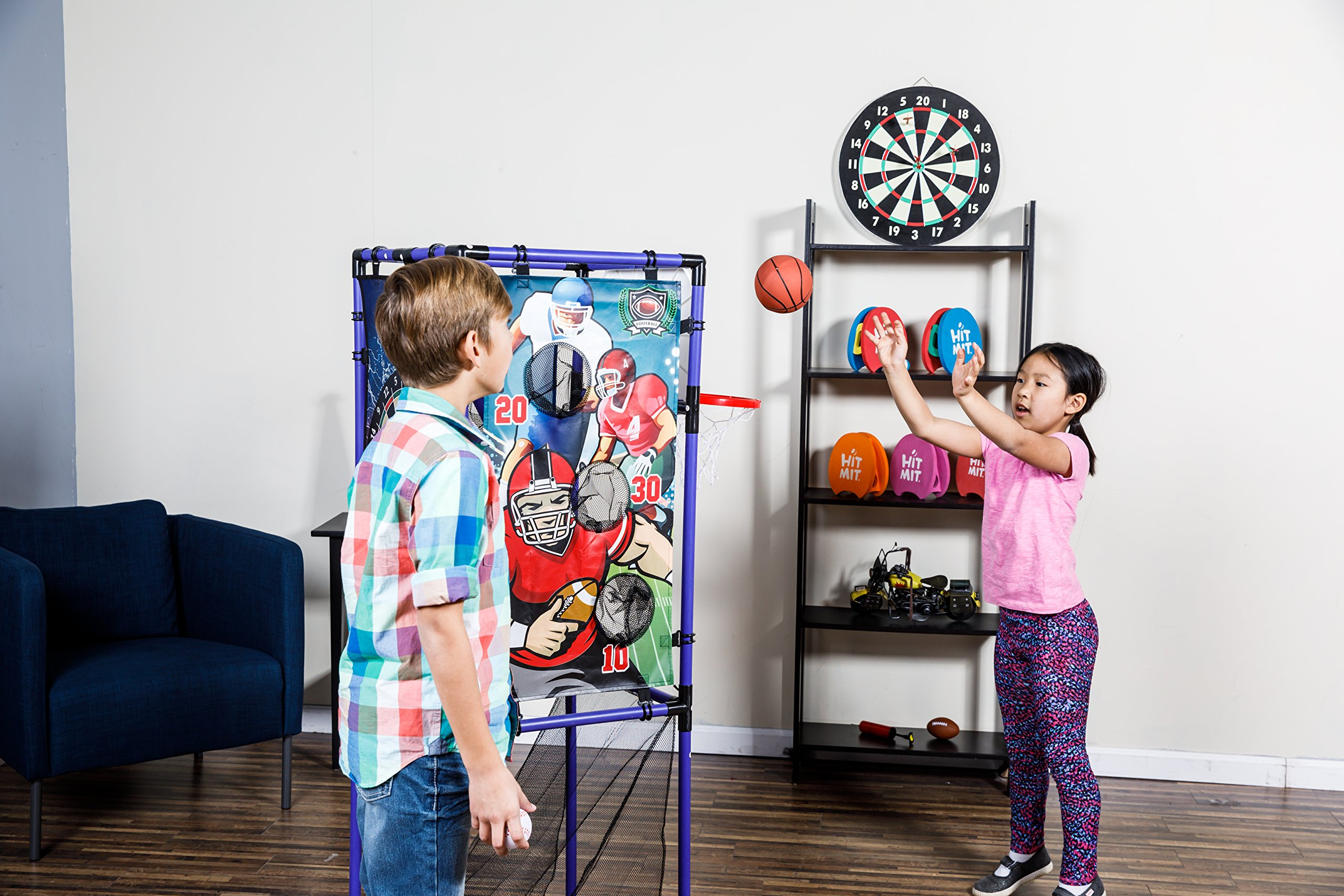 Sport Squad 5-in-1 Multi-Sport Kid's Game Set – Features Baseball, Basketball, Football, Soccer, Darts – Great for Indoor and Outdoor Play by Sport Squad (Image #5)