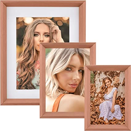 Decor Rose Gold Wooden 8x10 Photo// Art Frame BACKING INCLUDED, NOT SHOWN