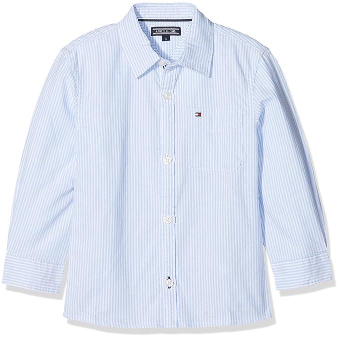 Tommy Hilfiger Ithaca Stripe Shirt L/S, Blusa para Niños: Amazon.es: Ropa y accesorios