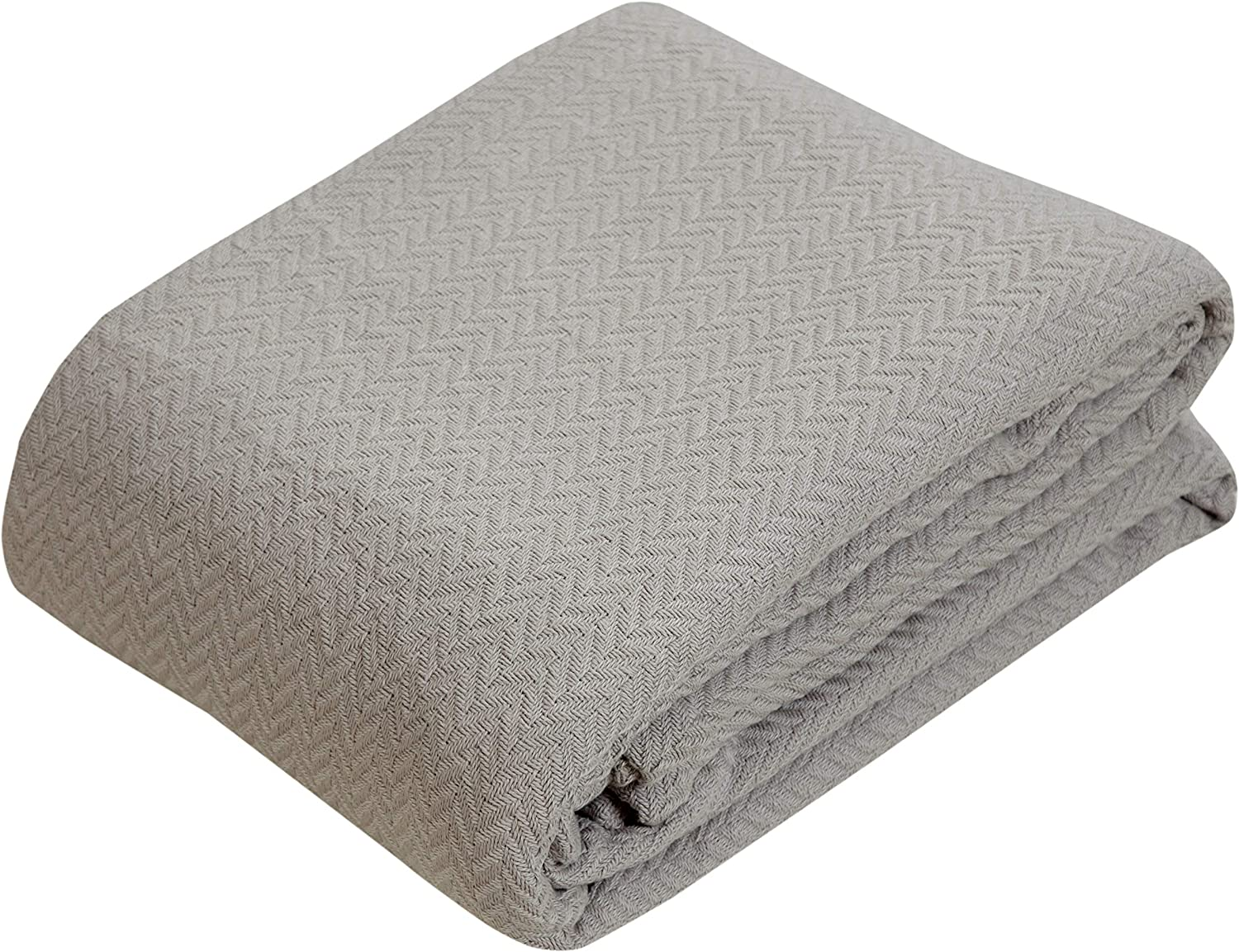 100% Soft Premium Ringspun Cotton Thermal Blanket - Full/Queen - Dark Brown - Snuggle in These Super Soft Cozy Cotton Blankets - Perfect for Layering Any Bed - Provides Comfort and Warmth for Years: Kitchen & Dining