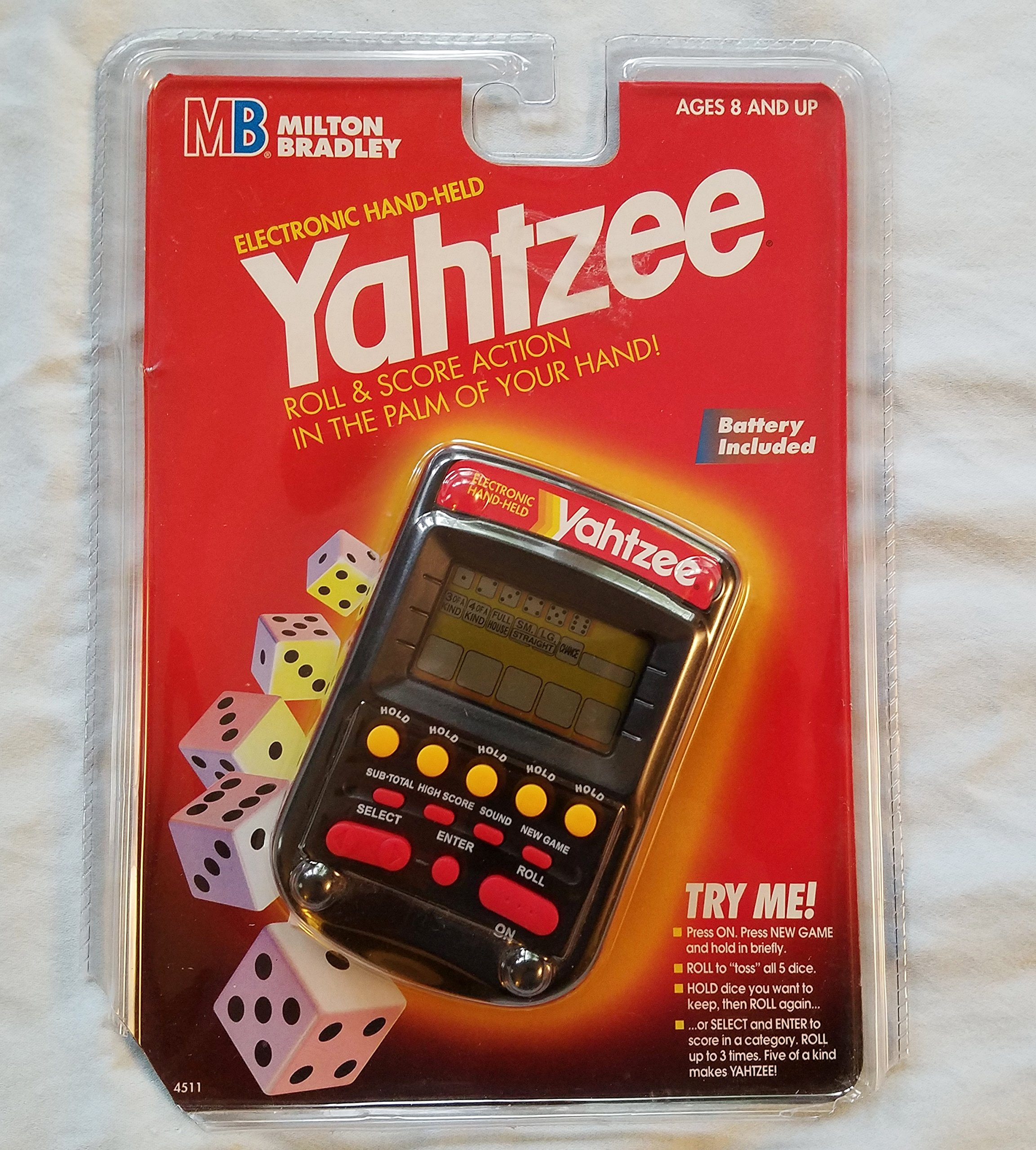 Electronic Handheld Yahtzee - Clear black