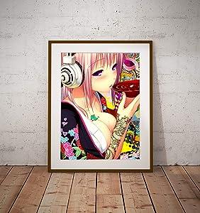 "Anime Super Sonico Poster Wall Decor Print Canvas Art Wall Art Print Gift Unframed Printing Size - 11""x17"" 18""x24"" 24""x32"" 24""x36"" (A4-8.5""x11"" (21x29,7cm))"