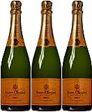 Veuve Clicquot Ponsardin Yellow Label Brut Non Vintage Champagne 75 cl (Case of 3)