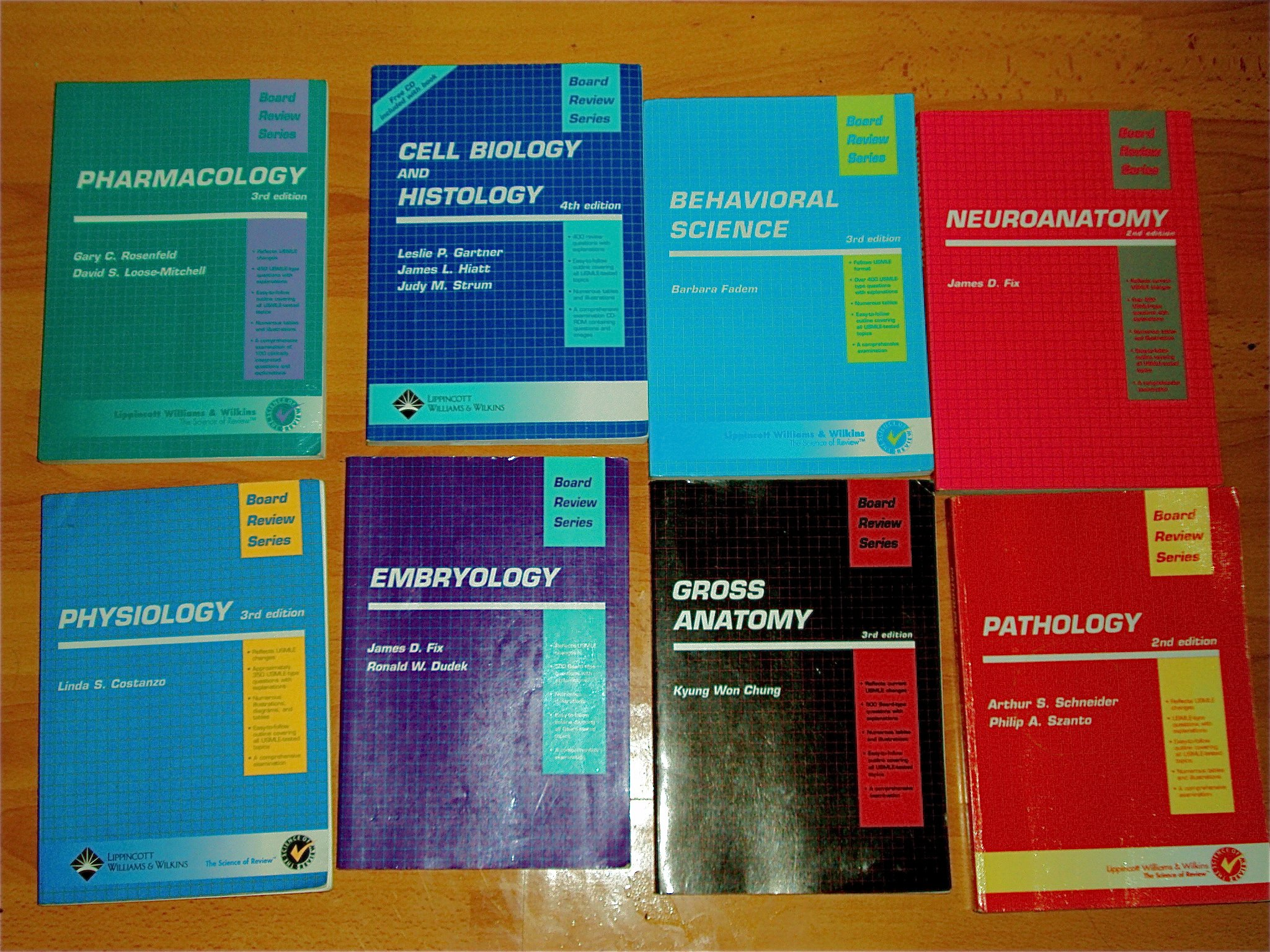 USMLE Step 1 Board Review Series Set (BRS): 10 books: Pathology